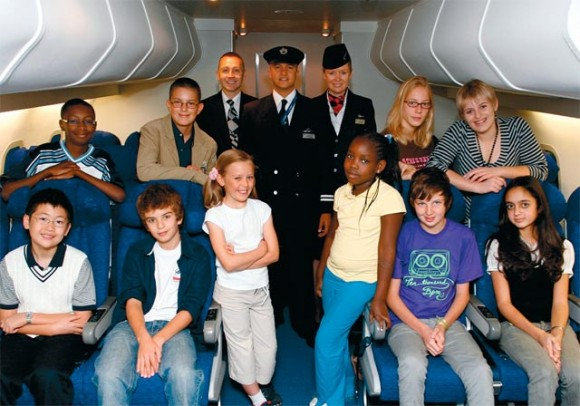 Children from Hong Kong, Uganda, Mexico, Kenya, South Africa and the U.K. participated in the Kid's council to inform British Airways on the needs of Young travelers.