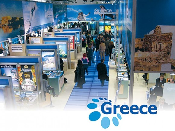 Greece's new brand that encapsulates the nine tourism sectors, each dot representing one sector.