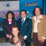 Navigator Travel and Tourist Services' Anna Polychronaki, cruise executive; Andreas Stylianopoulos, executive vice president; Eleni Tressou, sales executive; and Litsa Sfetisdou (center), customer care supervisor.