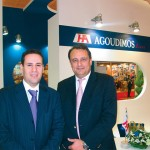 Agoudimos Lines' George Karametos, member of the booking department with sales and marketing manager, George Roumeliotis, at the company stand.
