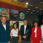 Nikos Asfis, sales manager at Mouzenidis Travel; Galini Ivanidou, director of Athens branch; Boris Mouzenidis, president; Lika Zosimidou, director of Thessaloniki branch and Arthouros Tsilides, IT Manager.