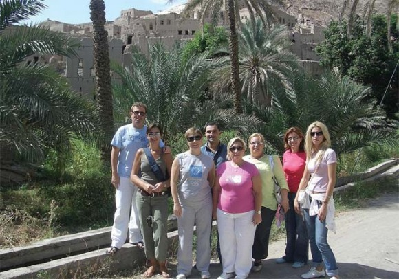 During one of the most recent familiarization tours organized by Qatar, this time to Oman: Andreas Manessis, Manessis Travel; Myrila Zana, Amazing Holidays; Aggeliki Geronikola, Marathon Travel; Dimitris Pyrentzidis, Dion Tours; Katerina Siabani, Heronia Travel; Elena Mitropoulou, Monogram; Myrsini Kaloriti, Travel Plan; and Sapfo Panagiotidou, sales executive for Qatar Airways, Greece.
