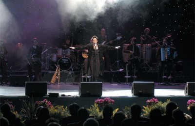 The plethora of guests attending the opening ceremonies of the International Tourism Exchange ITB Berlin 2006 were enthralled by the performance of the Greek singer Alkistis Protopsalti.