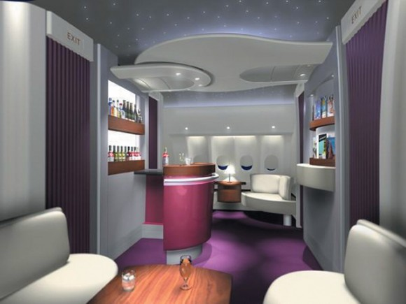 Qatar Airways' new look includes an on-board first-class lounge.
