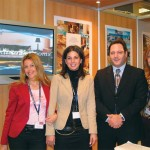 Spyros Maganiotis (second from right), director of sales for the Divani Chain of hotels, with his team of experts; Eleni Spanacou (from left), Mara Kapiti, and Despina Economou. The team gave foreign visitors a full rundown on the group's extensive conference facilities.