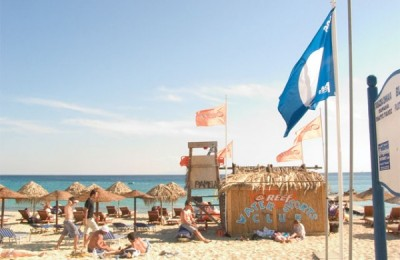 This year 404 Greek beaches received Blue Flags.