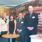 Jordan Tourism Board's regional marketing coordinator for East Europe, Elina Taji; Haris Kazazis, sales manager for Karma House Travel; Dimitris Xylagouras, Royal Jordanian's sales manager for Greece; Khaldoun Shawwa, the airline's area manager for Greece.