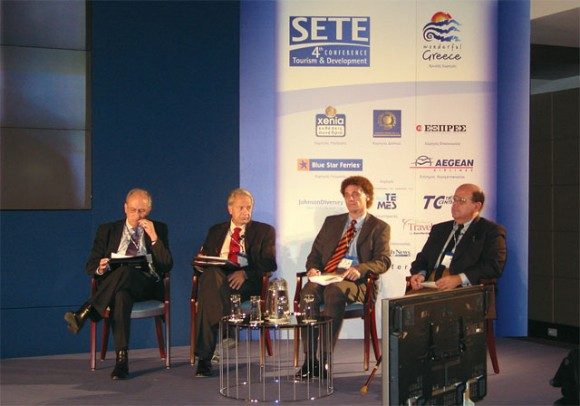 Martin Brackenburry, president of IFTO; Dr. Oktay Varlier, president of the Turkish Tourism Investors Association; Walter Niggl, of TUI in Austria; and Ahmed El-Khadem, chairman of the Egyptian Tourist Authority.