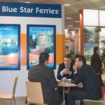 Dionissis Theodoratos (center), commercial director domestic lines for Blue Star ferries. The company released its financial statement for the first nine months of this year where revenue was up 4.6% to reach 113,282,000 euros and net profit for the period was up 16.5% against the same period last year to reach 22,412,000 euros.