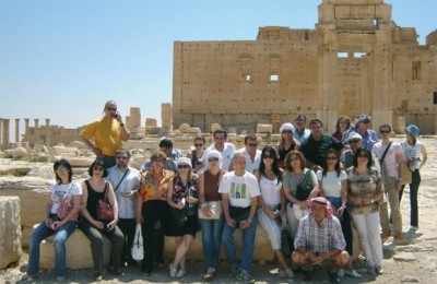 Greek travel agents during their recent visit to Syria.