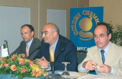 Yannis Retsos, secretay general of the Attica Hoteliers' Association; Georgos Tsakiris, president of the association; and Aris Ikkos of JBR Hellas.