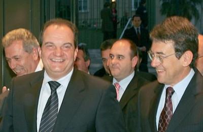 Prime Minister Konstantinos Karamanlis and Stavros Andreadis, president of the Association of Greek Tourism Enterprises.