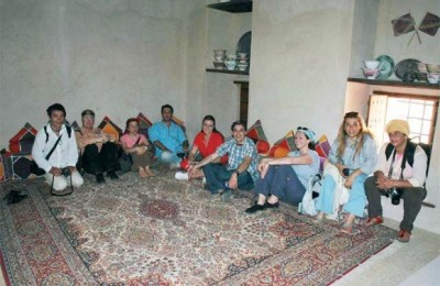 Journalists from well-known Greek newspapers and magazines during the FAM trip to Muscat, Oman.