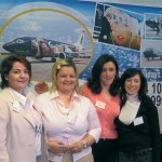 The Tempo Holidays stand proved to be a meeting point for many representatives from local travel agency offices. From left are: Vicky Liakou, sales manager for Kanale's Travel & Tourism; Vassiliki Kondylarou, product manager for BlueGats Tour Operator, Dimitra Nikolopoulou, sales manager for Tempo Holidays, and Stavroula Bellou, sales representative for Tempo Holidays.