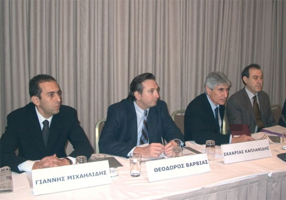 Yiannis Mihailidis of Hospitality & Tourism Consulting and Advertising, Theodoros Varvias of Event & Conference Organization Team, and Zacharias Kaplanidis of Zita Congress.