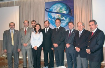 Representatives of the nine-member SkyTeam global airline alliance during last month's seminar on the latest products and services offered by the team of airlines.