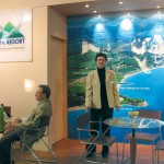 Although consumer visitors to the Sani Resort stand were numbered, the resort's conference sales manager, Sofia Kalomenidou and its reservations manager, Konstantinos Zarkadas, were pleased with the number of tourism professionals who dropped by during the fair for information on cooperation possibilities.