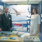 Czech Airlines' sales manager for Greece, Jerry Spyropoulos, and the airline's operation's manager, Angela Gerakiou, welcomed a number of professionals to the stand interested in checking out the possibilities of package travel to the Czech Republic. CSA is a SkyTeam alliance member.