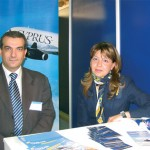 George Antonaros, sales and marketing manager for Cyprus Airways, helped the staff manning the stand to promote travel from Greece. Larnaca - with 78 scheduled weekly frequencies (48 last year) - is Eleftherios Venizelos's top international route.