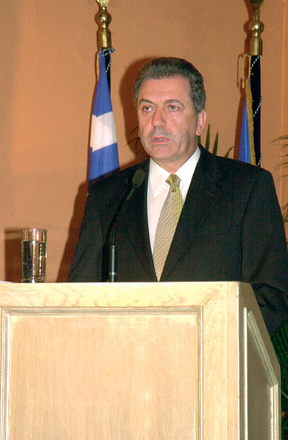 Tourism Minister Dimitris Avramopoulos, 51, a political science major from Athens Law School, began in the diplomatic corps in 1980 and from 1995 to 2002 was the mayor of Athens. He is married, has two sons and speaks English, French and Italian as well as his native Greek.