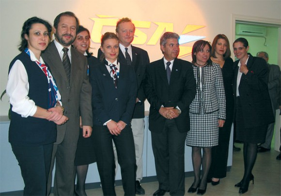 Travel Agents last month joined with the CSA Czech Airlines' team here in Athens to celebrate the 1st anniversary in the carrier's new offices.