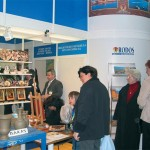 The Rodos stand stood out within the Greek pavilion for its comparative originality, complete with some folklore artists working within the stand.