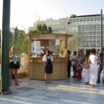 More than 3,000 City of Athens volunteers man the more than 60 information booths set up around the city's center and the tourists love it.