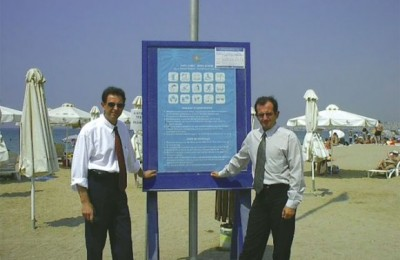 Poseidon's general manager, Dimitris Papastergiou, and the hotel's Food and Beverage manager, Theodoros Petropoulos.