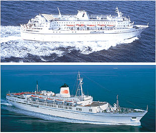 Louis Cruise Lines' first ships, Calypso and Ithaki, that are to sail out of Piraeus next spring.