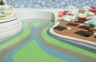 The Semiramis pool area.