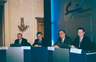 Sportius Hospitality executives Dinos Mitsiou, Markos Siapanis, Georgos Karpetis and Nikos Gazelides.