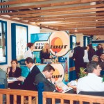 "The busiest spot within the Greek pavilion, albeit with Greek exhibitors, was the Hellenic Tourism Organization's ""coffee shop."""