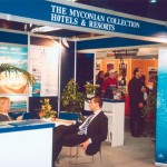 The Myconian Collection Hotels & Resorts stand at ITB 2003.