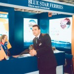 Blue Star Ferries stand at ITB 2003.