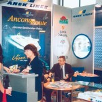 ANEK Lines stand at ITB 2003.