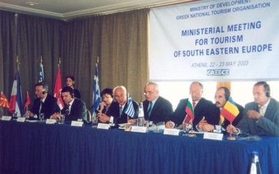 Tourism ministers or their representatives arrived at the Astir Voulagmenis complex recently to sign a tourism cooperation agreement.