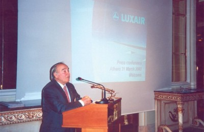 Dinos Mitsiou, chairman and chief executive officer of Amphitrion Holidays acts as the Luxair representative in Greece.