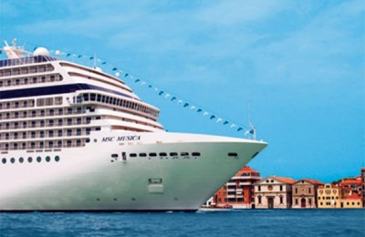 MSC Musica, MSC Cruises' brand new ultra luxurious cruise ship.
