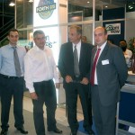 Electronic management and service distribution company FORTHcrs came to Philoxenia in force: From left; Thanos Kyrtatas, commercial account manager; Vassilis Spitadakis, chief executive officer; Panagiotis Moutsatsos, commercial account manager; and Ioannis Iliadis, the company's vice president.