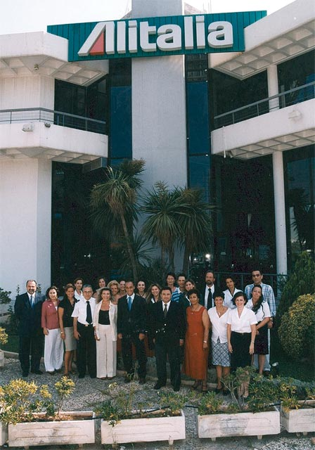 Alitalia's Athens office and its staff.