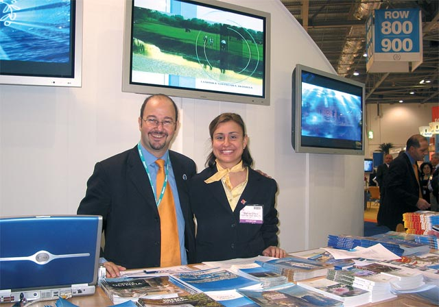 GNTO's London WTM staff included George Michalisles and Marissa Dingli, and even though continuously busy handing out information, they were able to take the time to assist Greek visitors in every way possible.