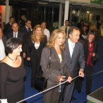 Culture and Tourism Deputy Minister Angela Gerekou and Helexpo's President Aristotelis Thomopoulos during the official inaugural ceremony of the 25th Philoxenia International Tourism Exhibition.