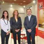 Greek Travel Pages Publisher Maria Theofanopoulou; Deputy Culture and Tourism Minister Angerla Gerekou; and Helexpo's President Aristotelis Thomopoulos at the GTP stand.