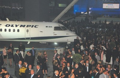 Olympic Air's official launch at the company's technical base at Athens International Airport.