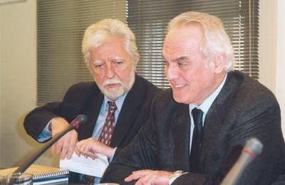 Deputy Development Minister Dimitris Georgakopoulos and Greek Development Minister Akis Tsohatzopoulos.