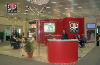 GTP's stand at a previous Philoxenia fair.