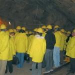 Greek travel agents explore mining park.