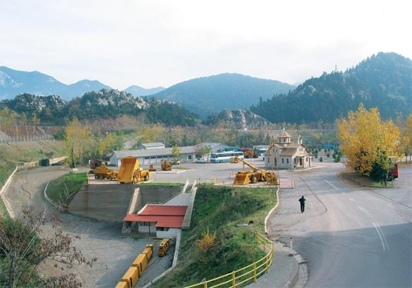 The well tendered mining and park area.