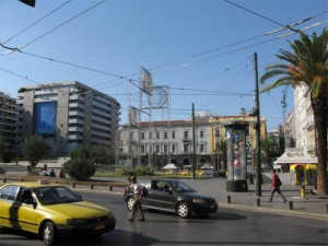 Omonia Square, Athens.