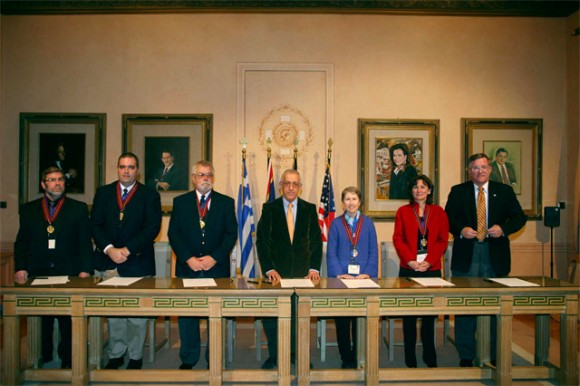 """Athens Mayors that attended the 1st Athens Mayors Meeting, organized by The World of Athens, signed a declaration on the establishment of the """"Athens of the World Network."""""""